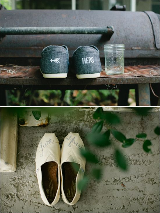 his and her Toms for the honeymoon