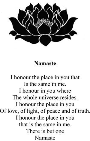 namaste'.....this is my heart at the end of every class I close......I have deep gratitude for all who unroll their mat in our studio......