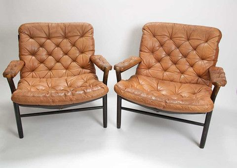Skandi - Vintage Swedish leather easy chairs