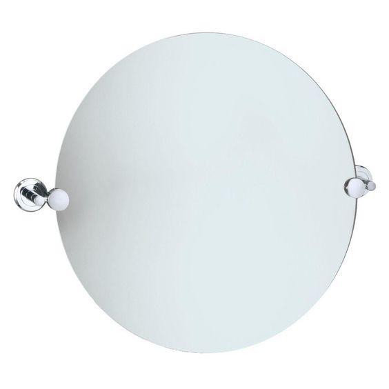 Gatco Latitude II 195 In L X 23 W Round Mirror Chrome