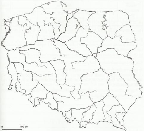 Znalezione Obrazy Dla Zapytania Mapa Polski Rzeki Kolorowanka