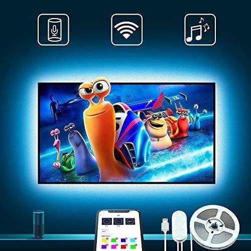 Tv Led Backlights Govee 9 8ft Led Strip Lights Works With Alexa Google Home For 46 55in Tv App Control Multi Color Light For Pc Laptop Desk Adapter Usb Powere Led Strip Lighting Strip