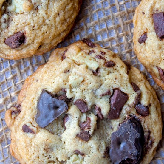 The classic chocolate chip cookie gets a mint kick with some Thin mints and Andes chocolate.