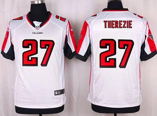 NFL Jerseys Official - Atlanta Falcons #27 Robenson Therezie White Road NFL Nike Elite ...