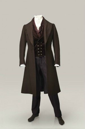 Men's Victorian Wedding Outfit. 1800s. Frock coat double breasted