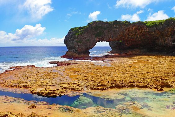 Coral channels and rock formations make up the coastline of this tiny island country | Talava Arches Niue [OC] [4608x3072]