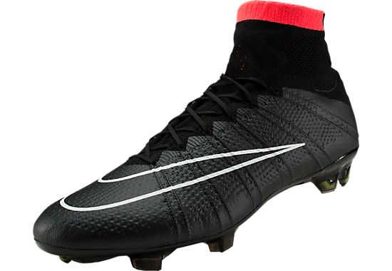 All Black Nike Mercurial Superfly Firm Ground Soccer Cleats | SoccerMaster.com