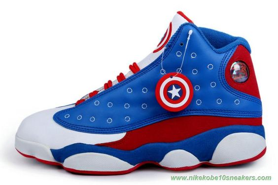 Captain America Blue/Red/White AIR JORDAN 13 RETRO