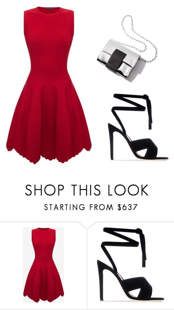 """""""Untitled #1"""" by inaa-275 ❤ liked on Polyvore featuring Alexander McQueen and Gianvito Rossi"""