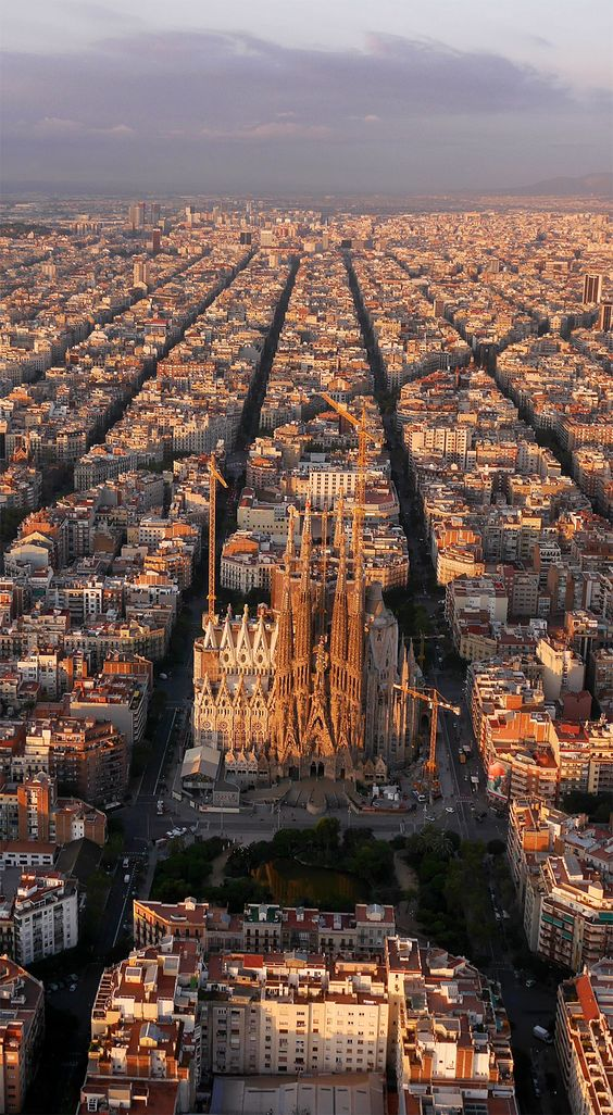 Barcelona, Aerial View:
