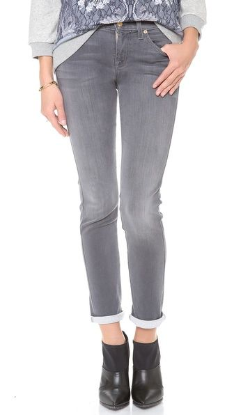 7 For All Mankind The Slim Cigarette Jeans grey sateen 189.00