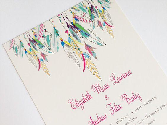 Native American Wedding Invitations: Native American, Feathers And Wedding Invitations On Pinterest