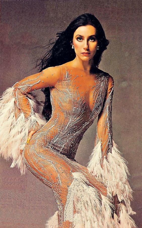 Cher recently said that this Bob Mackie design which grace Time magazine in '75, was her favorite dress. Funny, it's mine too!