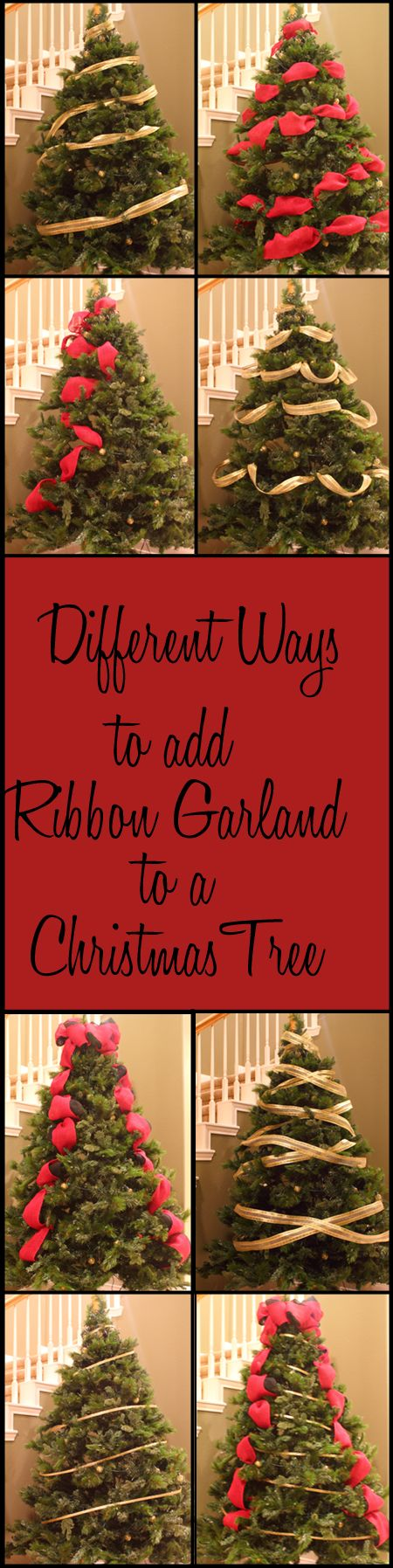 Different ways to add ribbon garland to a christmas tree How to hang garland on a christmas tree