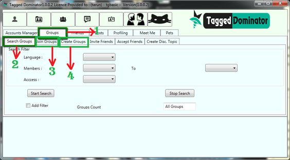Manage group with TaggedDominator