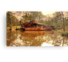 Old Rusting Barge - Maldon, Victoria Metal Print