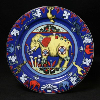 Bopla porcelain from Switzerland are whimsical and colorful. Made with only 6 colors, it's fun to mix and match.