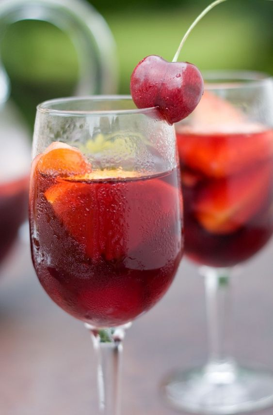 Red cherry sangria the pitcher sweet home and wine for Sangria recipe red wine triple sec