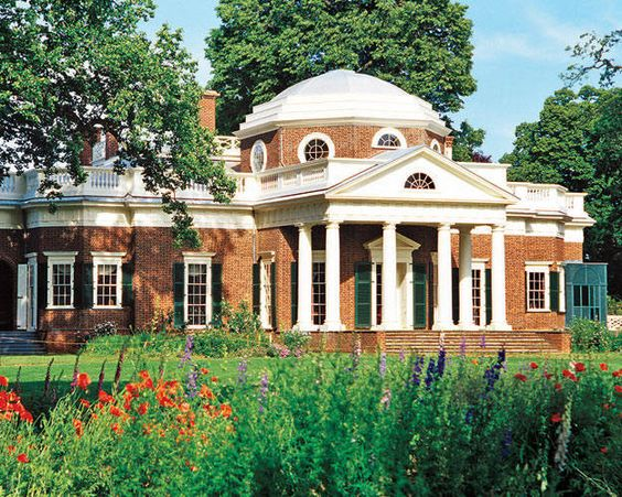Thomas jefferson plantation homes and virginia on pinterest for Thomas jefferson house monticello