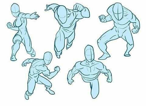 Bocetos Y Guias Para Dibujantes Poses De Pelea En 2020 Dibujo De Posturas Dibujar Caricaturas Diseno De Personajes