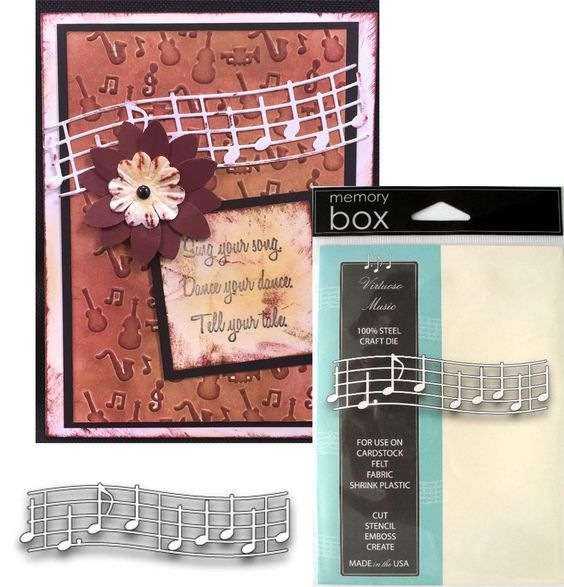 Music die - VIRTUOSO MUSIC - 98356 - Memory Box Dies - All Occasion Notes Band #MemoryBox