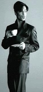 Prince Drinking Tea, gif.
