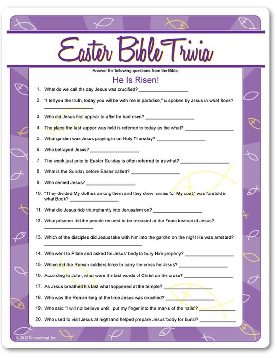It is a graphic of Tactueux Easter Trivia Questions and Answers Printable