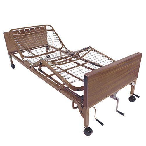 Drive Medical Multi Height Manual Hospital Bed Full Rails And No Mattress Hospital Bed Bed Frame Sizes Bed Mattress