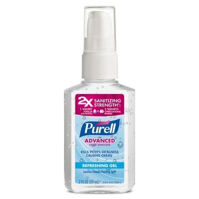 Purell Advanced Hand Sanitizer Gel 1 Oz Travel Size 4 Pack