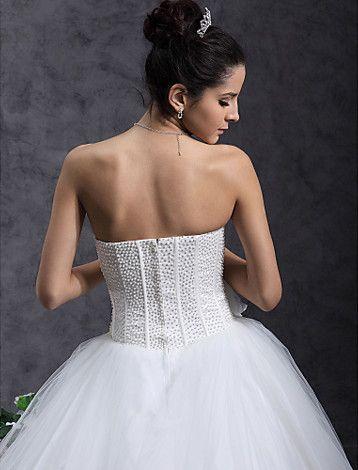Vestido de Noiva Longo de Tule Tomara que Caia - BRL R$ 478,77