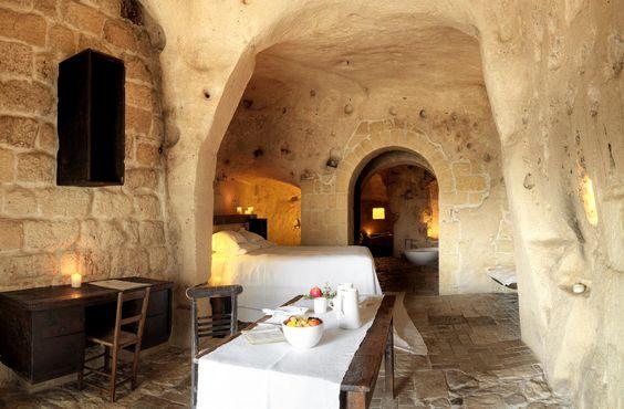 Le Grotte Della Civita Hotel #italy #stone #lux