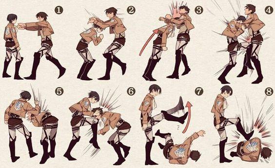 How to fight : Shingeki no kyojin style