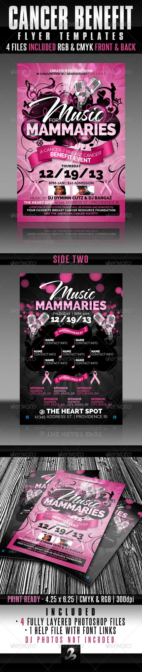 Cancer Benefit Flyer Templates – Benefit Flyer Templates