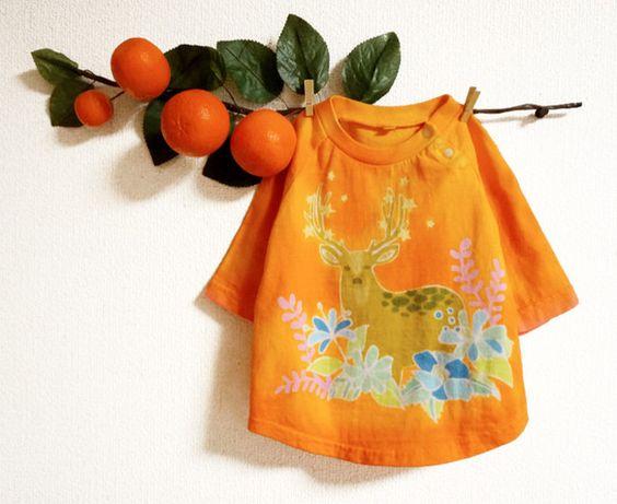 creator: Orange Globe|[ Creema ]星と鹿さんtee