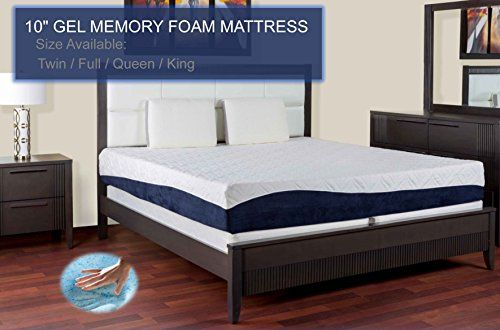 Us Pedic New 10 Inch Gel Memory Foam Luxury Mattress Triple Layer Certipur Us Certified 10 Year War Luxury Mattresses Queen Mattress Size Queen Mattress
