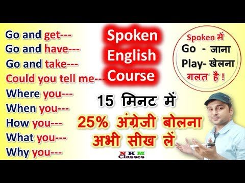 Basic English Speaking Course For Beginners Learn Speaking English Fluently N K Mishra Classes You Speaking English English Learning Spoken Learn English