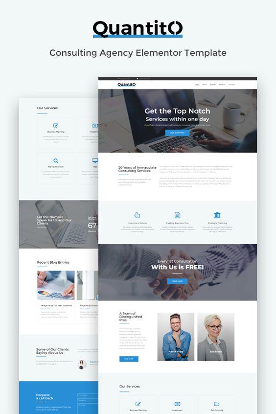 Consulting Agency Elementor Templatet Website Design Wordpress Business Website Design Agency Website Design