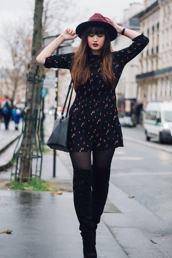 JONAK GIRLS | The importance of good Boots as seen on @meetmeinparee - http://www.jonak.fr/cuissardes-a-talons-en-velours-noir-jonak.html