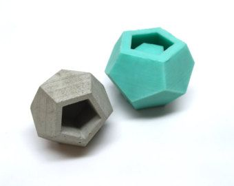 Icosahedron II Planter Mold Slicone Geometric Mold by Edgehill3D