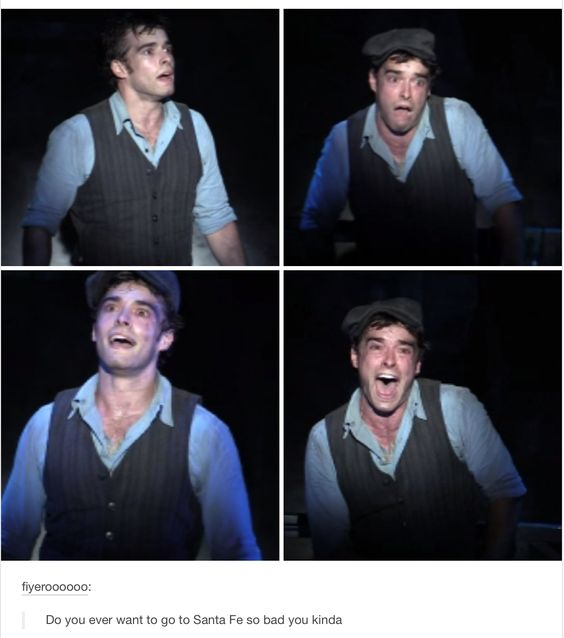 Corey Cott just really wants Santa Fe - Newsies: