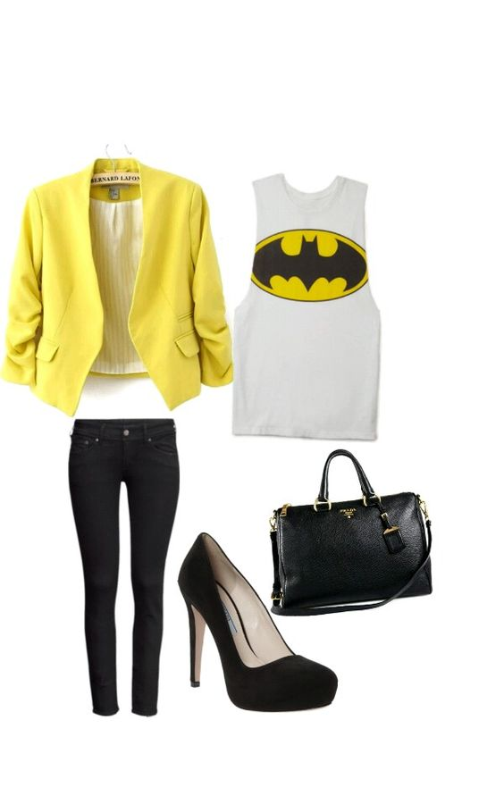 batman outfit from polyvore
