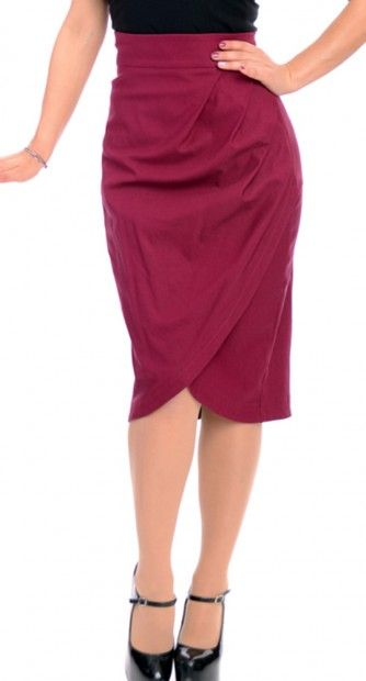 Steady Clothing Rebecca Skirt in Wine #pinup #retro #maroon #aggie