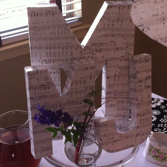 Wedding Shower Centerpiece They Sell The Letters At