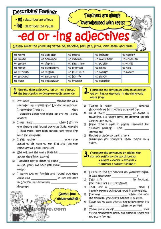 Forum Learn English Fluent Land – Ed Ing Worksheets