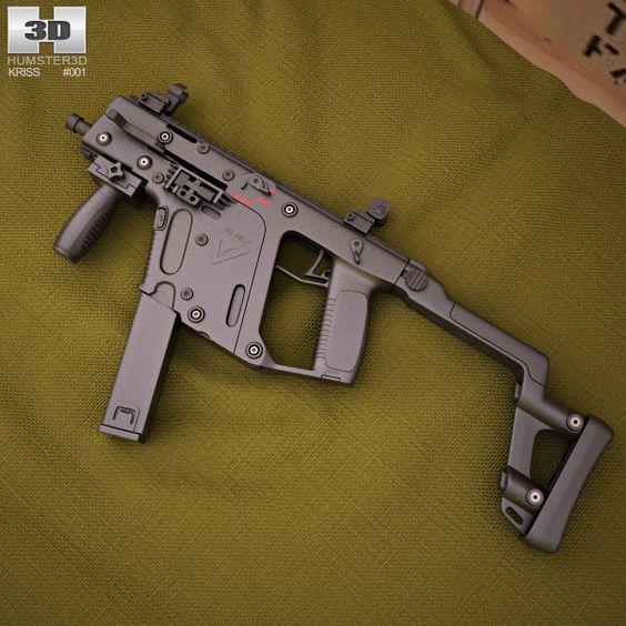 KRISS Vector SMG 3d model from humster3d.com. Price: $50
