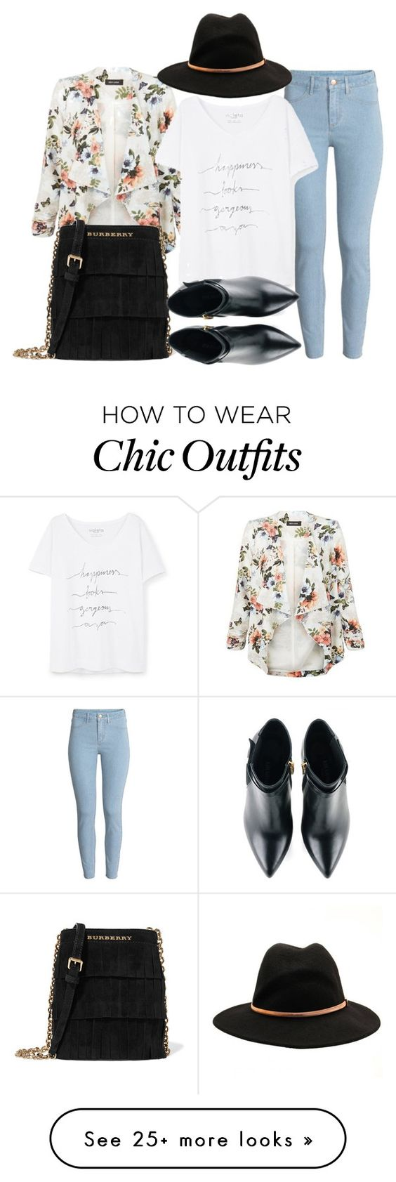 """Urban & Chic Outfit For The Summer"" by ashantiannasmith on Polyvore featuring New Look, H&M, Burberry, Violeta by Mango, Ted Baker and Kim Kwang"