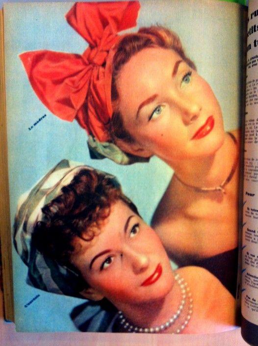 Le turban en 1948 dans le @Elle France