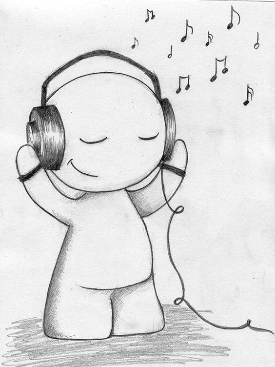 La Musica Es La Mayor Pasion Que Te Hace Sentir De Lo Mejor Dibujos Bonitos Dibujos A Lapiz Sencillos Dibujos
