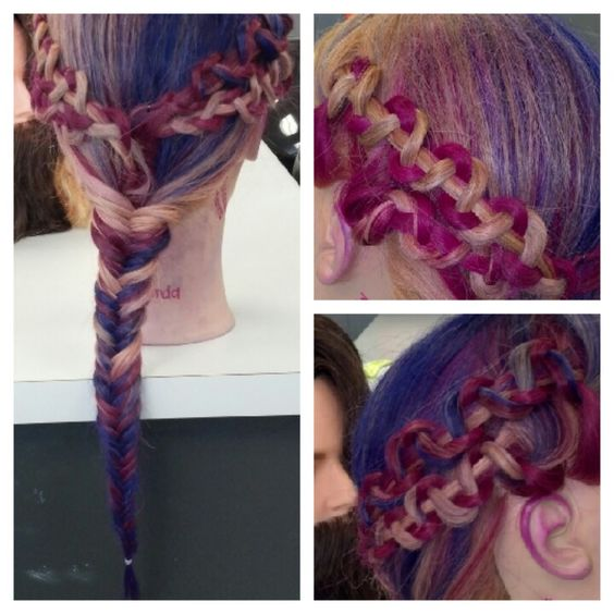 Did this in cosmetology yesterday (: