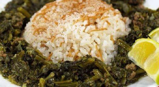 طريقة عمل السبانخ باللحمة المفرومة اللبنانية 5 Food Rice Grains